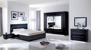 Miroir city laque noir chambre a coucher for Chambre à coucher adulte moderne avec prix pour un bon matelas