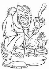 Coloring Monkey Baboon Cartoon Pages King Lion Print Sketch Printable Getcoloringpages Template Outline sketch template