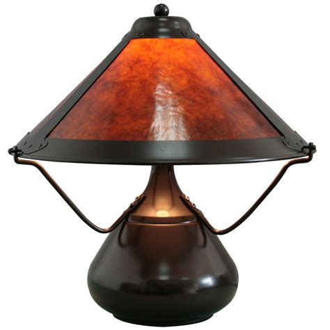 mica shade table l shop grandrich 15 1 2 quot dark bronze table l with mica