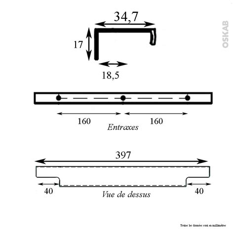 poign 233 e de meuble de cuisine n 176 37 inox bross 233 40 cm entraxe 160 mm sokleo oskab