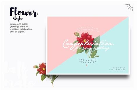 wedding congratulations card template elegant