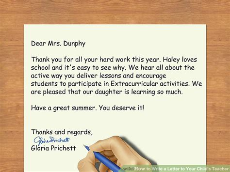 4 how do you write a letter to a friend resumed 3 ways to write a letter to your child s wikihow 71323