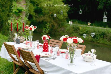 rouge  blanc decoration mariage champetre decoration