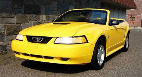 chrome yellow  ford mustang convertible