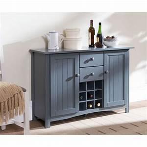 Bahut De Cuisine : kitchen buffet de cuisine 112cm gris achat vente ~ Edinachiropracticcenter.com Idées de Décoration