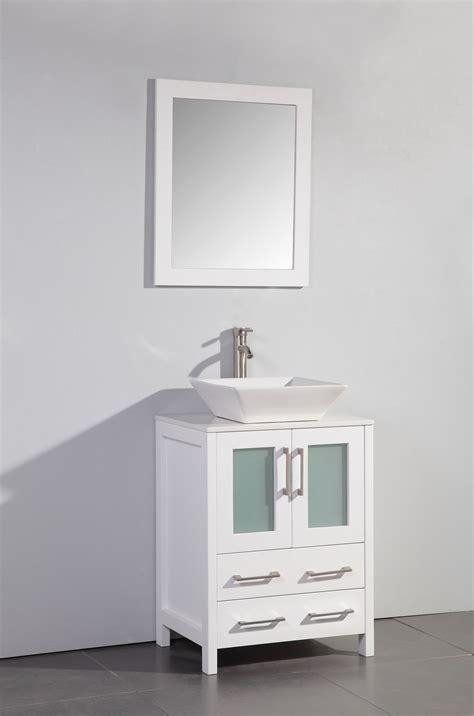 24 inch vessel sink vanity legion 24 inch modern vessel sink bathroom vanity white