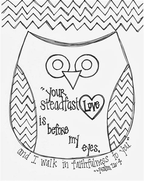 valentines day bible verse owl coloring page