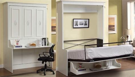 Bookcase, Bed And Dining Table In One Spacesaving Unit. Leather Swivel Bar Stools. Large Ottoman. Kraftmaid Bathroom Vanities. Black Fireplace. Distressed Wood Shelves. Victorian Hotel Pendant. Gibbons Pools. White Console