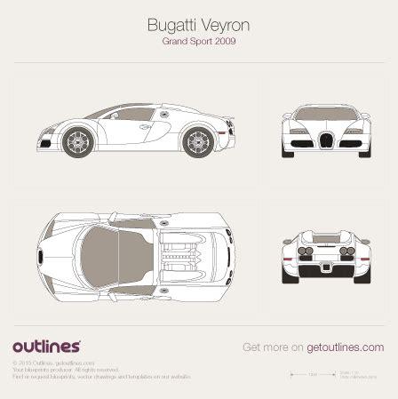 Bugatti Veyron Blueprint by 2005 Bugatti Veyron Grand Sport Roadster Drawings