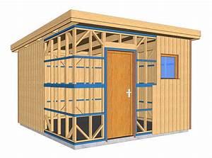 Plan Abri De Jardin En Bois Gratuit : autoconstruction maison en ossature bois ~ Melissatoandfro.com Idées de Décoration