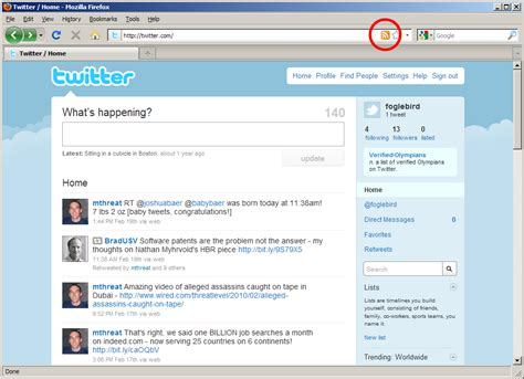 Twitter Notifications On Your Desktop Using Feed Notifier