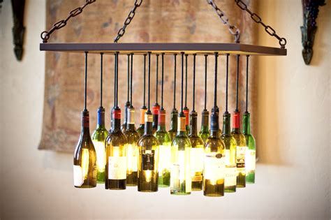 custom wine bottle chandelier by by gordon living