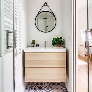 Relooker Meuble Salle De Bain : petite salle de bain optimis e inspiration coup de coeur c t maison ~ Melissatoandfro.com Idées de Décoration