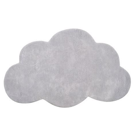 tapis enfant coton nuage gris clair lilipinso