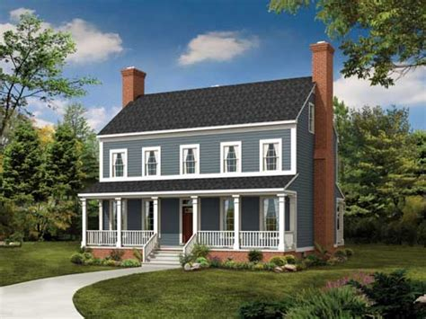 Colonial House Plans by 2 Story Colonial Front Makeover 2 Story Colonial Style