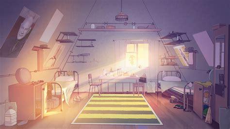 aesthetic anime bedroom background morning