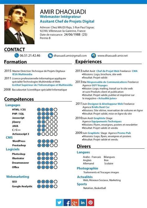 Exle Chef Cv by Chef De Projet Cv Exemple Laboite Cv Fr