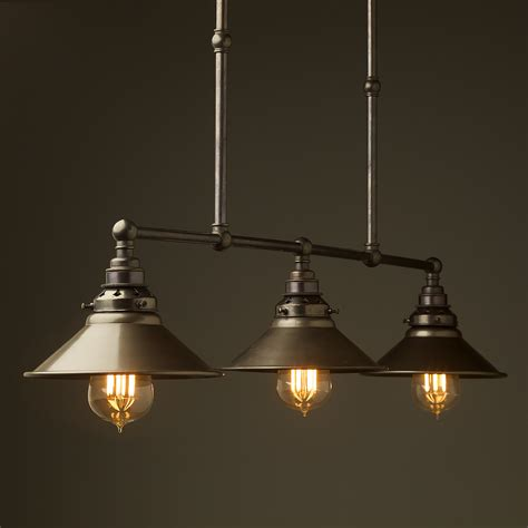 hanging light fixtures bronze edison billiard table light