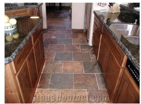 Wild Fire Slate Kitchen Floor from United States