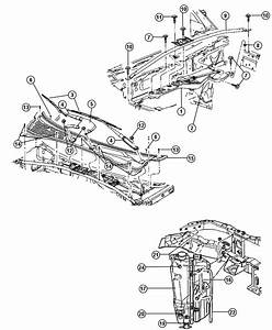 2005 Dodge Durango Panel  Cowl  Body  Wiper  Windshield