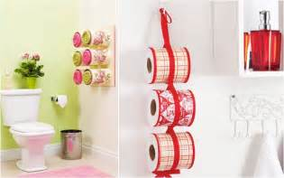 bathroom ideas diy bathroom organizing ideas towel storage made of decoupaged tin cans
