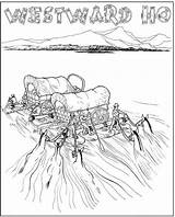 Coloring Trail Pages Oregon Westward Rush Gold Drawing Pioneer Covered Expansion Printable Wagon Wagons Sheets Ho Google Horse Tears River sketch template