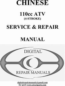 Chinese 110cc Atv Service  U0026 Repair Manual 2nd Edition