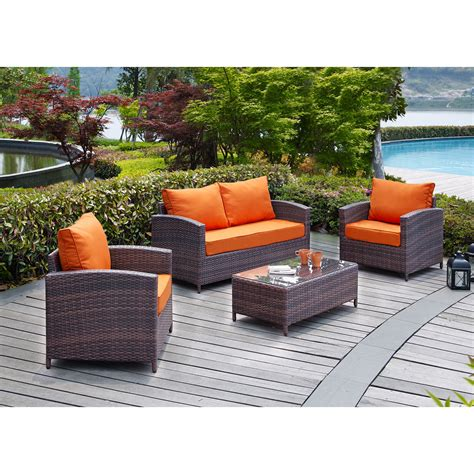 bay isle home petunia 4 seating with
