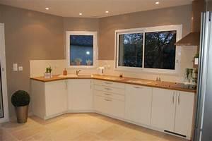 peindre une cuisine peinture meuble cuisine couleur lin With couleur de peinture cuisine