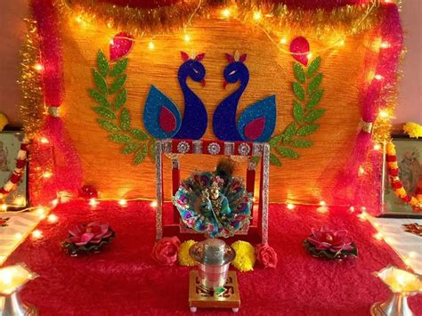 krishna jhula  janmashtami decoration ideas images