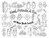 Coloring Menu Lunch Activity York sketch template
