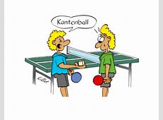 Tischtennis Cartoon ] cartoon IT [ Kantenball