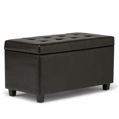 Ottoman Bench by Simpli Home Cosmopolitan Faux Leather