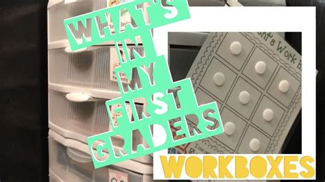 Homeschool Workbox System! What's In My First Graders