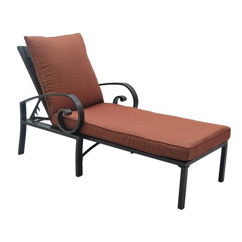 shop allen roth pardini bronze aluminum patio chaise