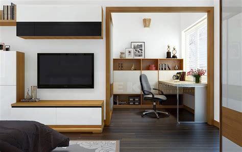 office space in bedroom tuananh eke s wooden framed multipurpose space with office and bedroom entertainment ares