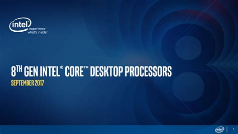 intel i5 8600k 8th intel announces coffee lake processors specifications