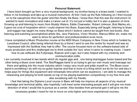 personal statement exles for applications