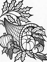 Thanksgiving Coloring Pages Cornucopia November Adult Printable Sheets Turkey Fall Thecoloringbarn Clipart Colouring Autumn Harvest Sheet Represents Crafts Cornicopia Halloween sketch template