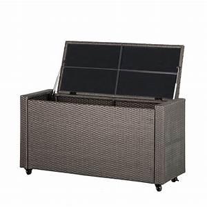 Box Mit Rollen : gartentruhe polyrattan grau kissenbox auflagenbox garten terrasse kiste box neu ebay ~ Markanthonyermac.com Haus und Dekorationen