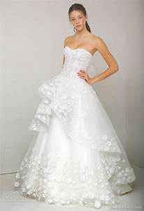 Monique lhuillier spring 2011 wedding dresses wedding to be for Floral embroidered wedding dress