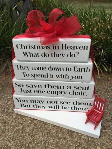 christmas in heaven craft in heaven what do they do sign wood by designedbykandj gift ideas