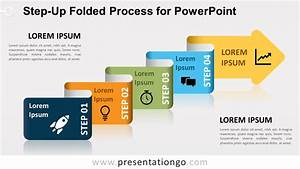 Step-up Folded Process For Powerpoint