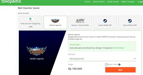 isi diamond mobile legends  tokopedia irumira