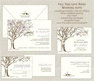 customizable wedding invitations fall tree birds wedding invitations wedding invites