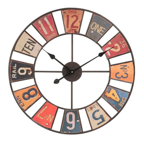 horloge en metal multicolore   cm american maisons du monde