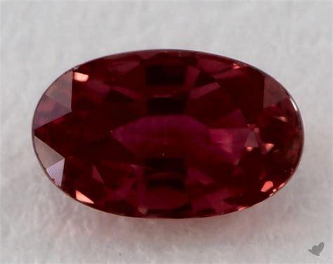 gemstones red ruby  carat oval sku