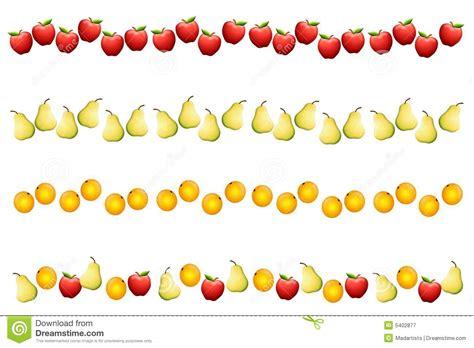 clipart bordi bordi o divisori della frutta fotografia stock libera da