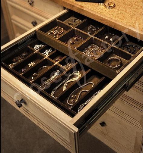 Custom Double Deck Jewelry Drawer  Contemporary Closet