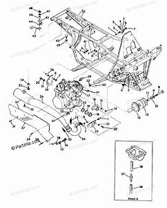 Polaris Atv 1991 Oem Parts Diagram For Engine  Muffler